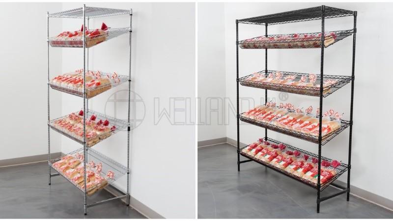 商超货架 超市展示架 可带价格标签超市货架 可调节金属商场货架