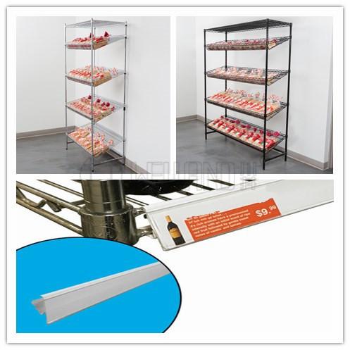 商超货架 超市展示架 可带价格标签超市货架 可调节金属商场货架-川井 (2)