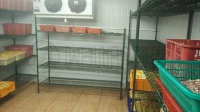 冷库储物架冷冻柜线网货架方案