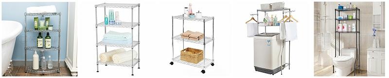 线网置物架浴室洗手间洗手台收纳金属储物架-川井