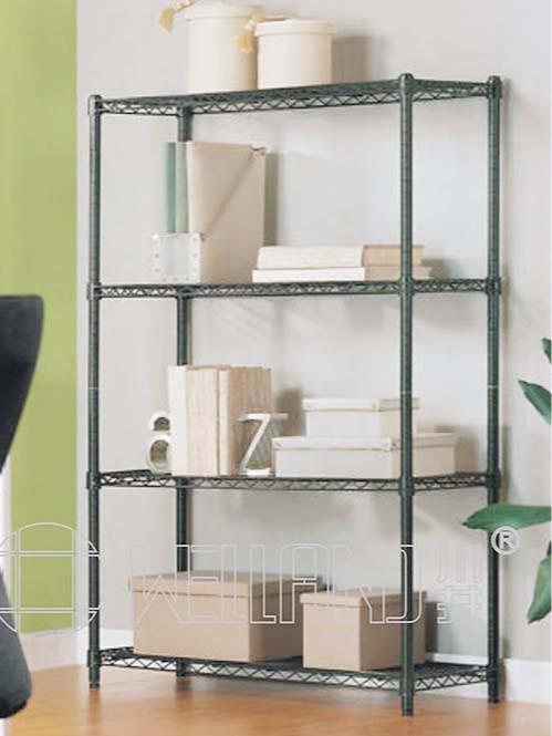 多层办公室喷粉黑色4层线网置物架