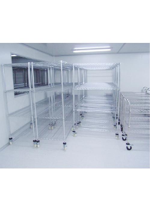 电子工厂车间现场可调层距镀铬线网货架