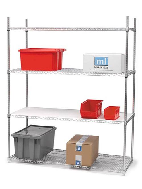 四层电镀铬重型多功能线网货架层架储物架