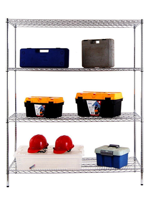 四层工具杂物收纳重型线网货架