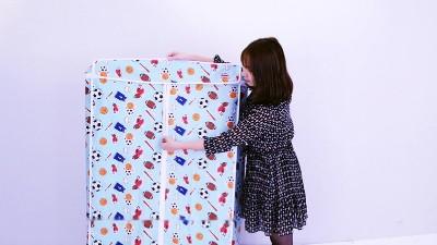 川井简易衣橱布艺布衣柜线网挂衣置物架安装视频