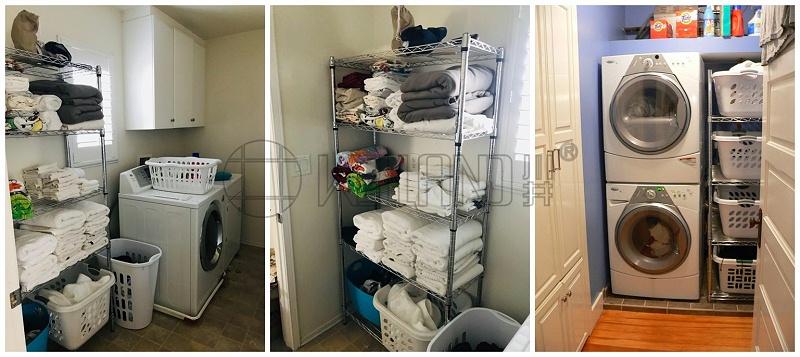 家居用洗衣机收纳架阳台洗衣机杂物置物架-川井
