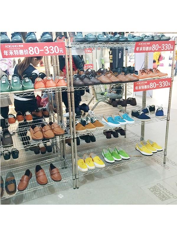 鞋店促销陈设货架