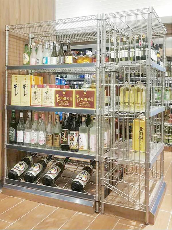 超市红酒酒类专柜展架