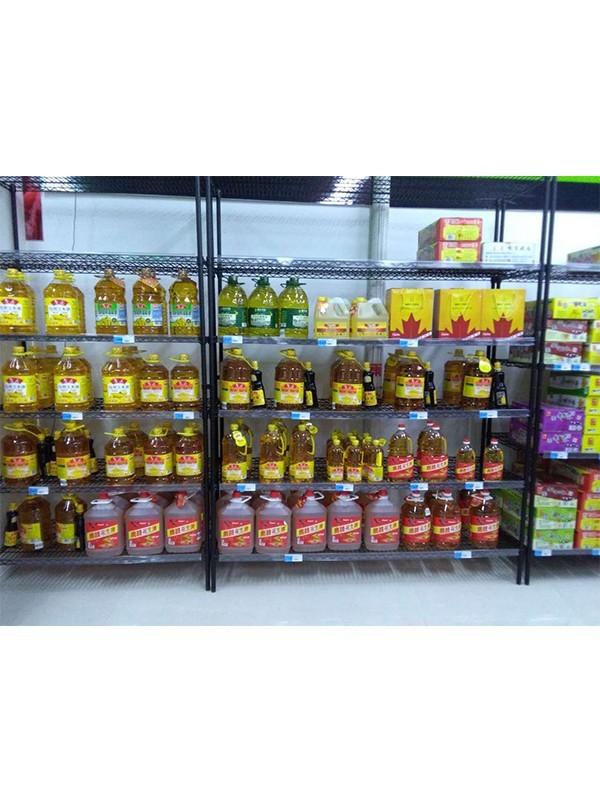 超市粮油调味品货架