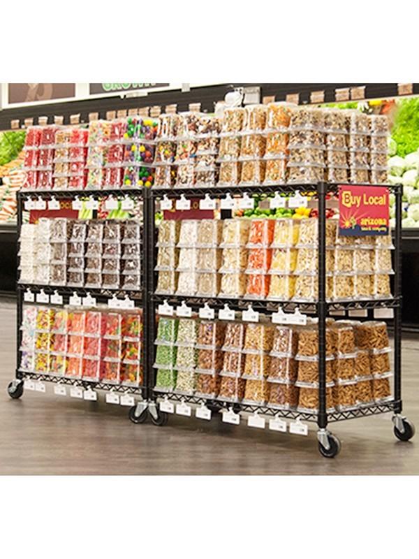 零食促销装货架展示架