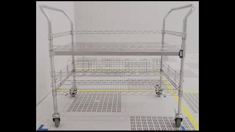 工厂用定制不锈钢手推车周转电子产品不锈钢物料车