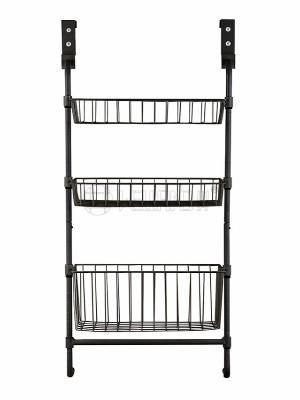 三层金属门后挂篮架