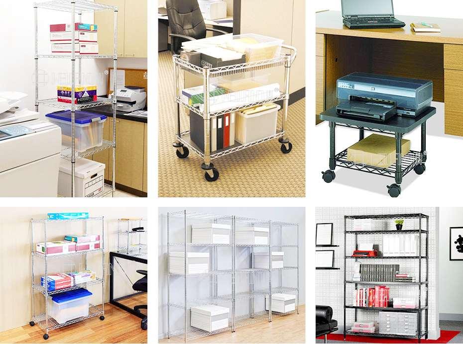 办公室资料储物架档案室文件架多层落地式收纳架案例
