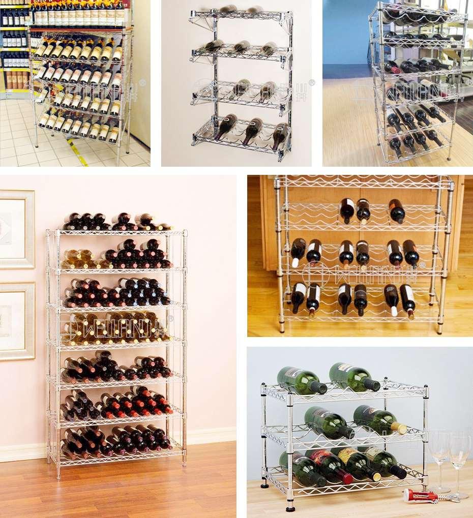 多层红酒展示层架金属防锈红酒储物架DIY铁制工艺红酒储物架案例