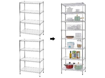 可拼接的架子无限加高层架可拆装置物架