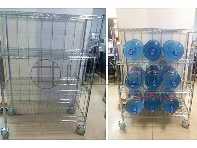 新款定制四层水桶展示架分享