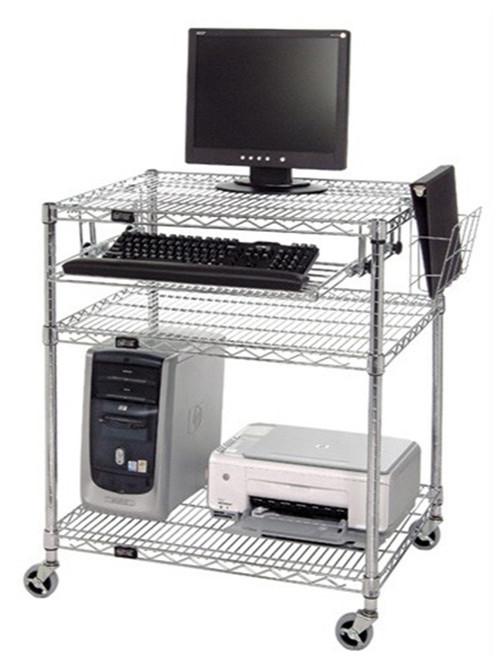 防静电电脑桌工作操作台推车