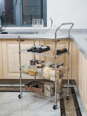 厨房用多功能四层金属小餐车