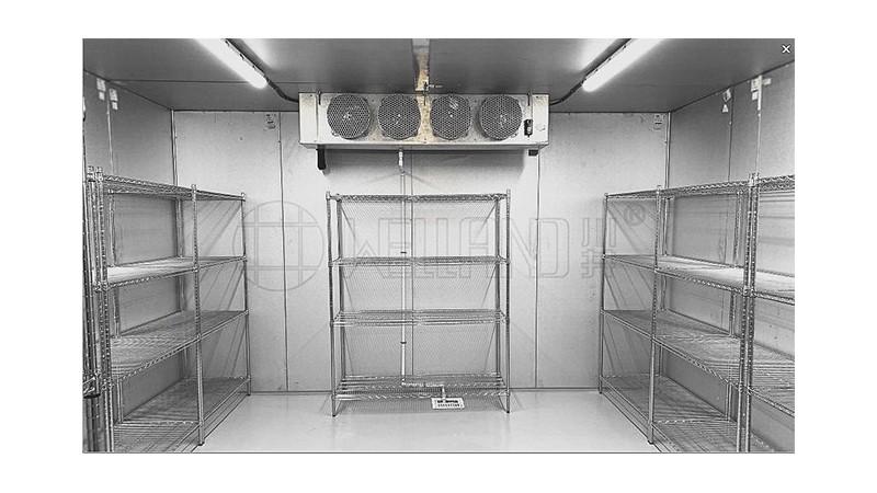 餐饮工程冷库货架冻肉蔬菜冷库仓储货架不锈钢色货架